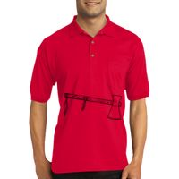 DryBlend ® 6 Ounce Jersey Knit Sport Shirt with Pocket Thumbnail